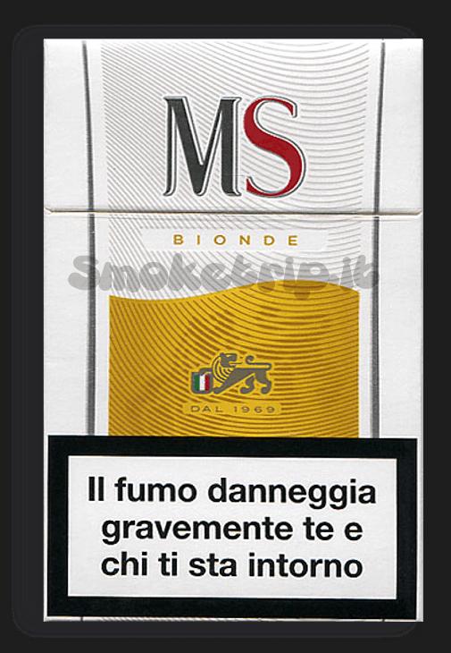 sigarette ms bionde