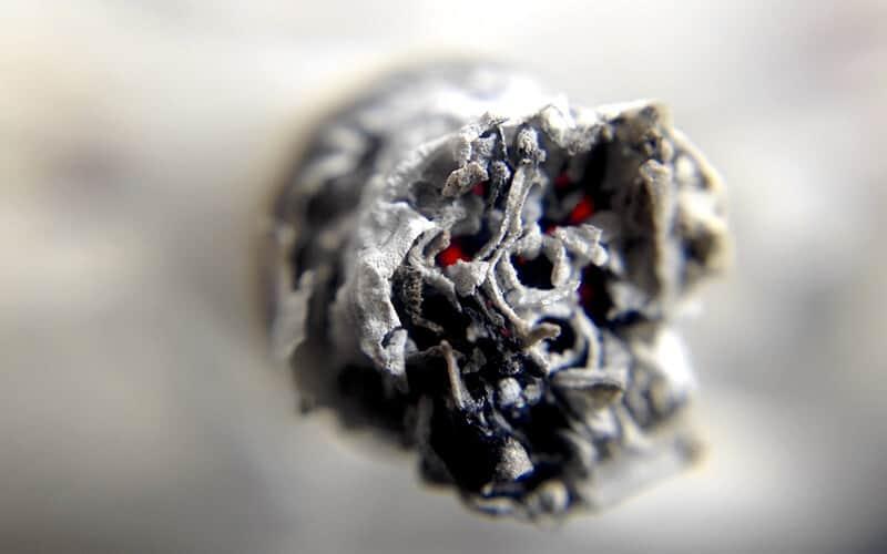 catrame derivato dalla sigarette